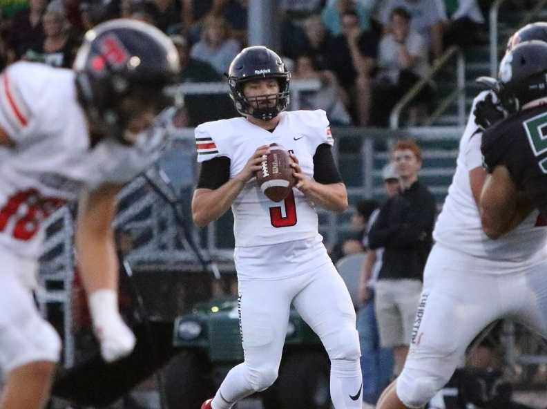 Thurston's Cade Crist threw for 328 yards and four touchdowns Friday. (Photo by Patrick Edmison)