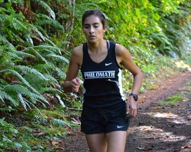 Philomath's Hanna Hernandez finished first in the Paul Mariman Invitational.