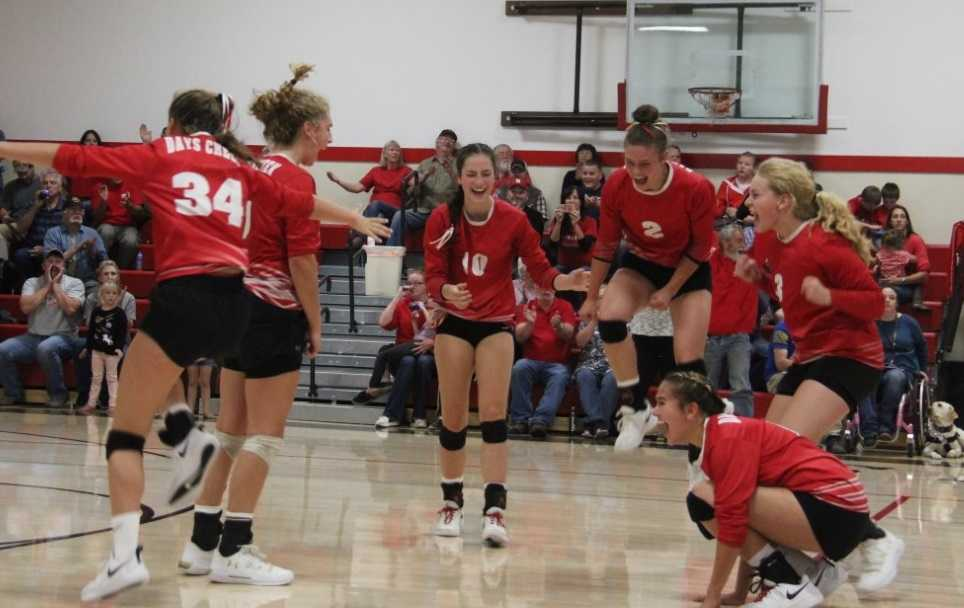 Days Creek's volleyball team has won 66 of 75 sets this season. (Photo by Debbie Fuller)