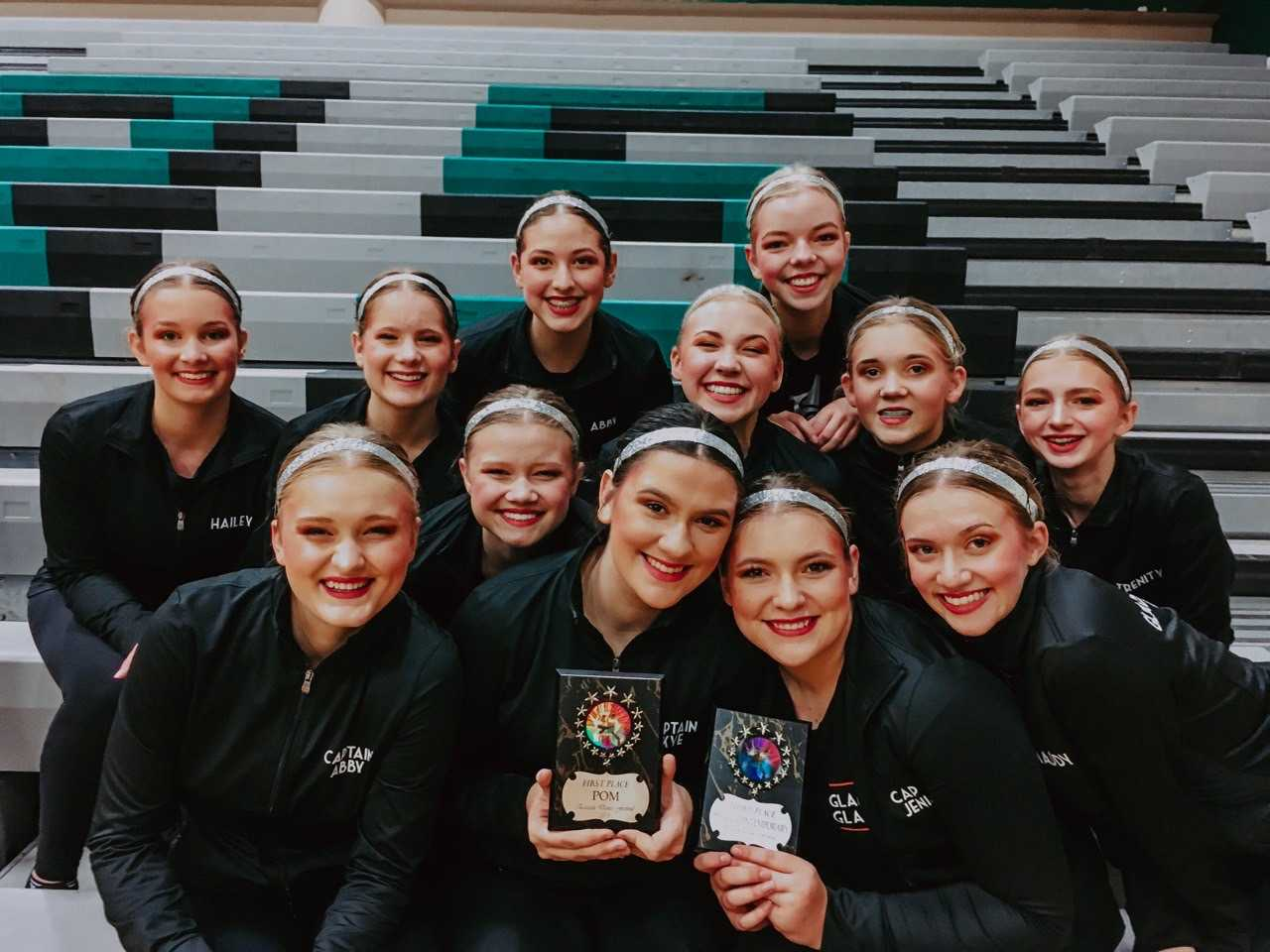 The Gladstone Gladettes finished first in Pom, second in Small Jazz, and thir in Small Contemporary at the Reynolds Competition.