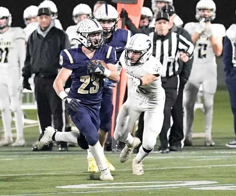 Martial Stegemeier rushed for 189 yards and three touchdowns for Banks on Saturday. (Photo by Jon Olson)