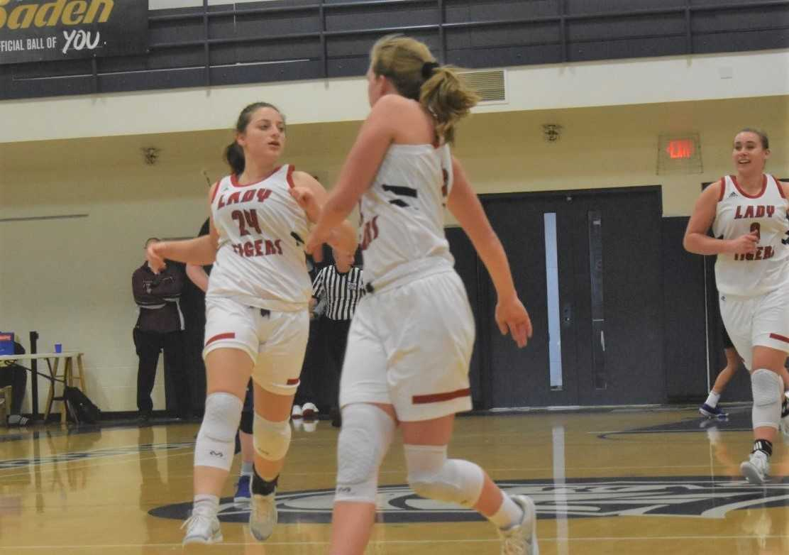 Clatskanie's Maya Helmen (24) gets back on defense after scoring a basket Monday. (Photo by Jeremy McDonald)