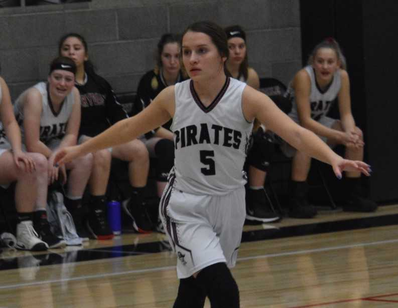 Sydney Lawrence scored 16 points in Perrydale's playoff win over Southwest Christian. (Photo by Jeremy McDonald)