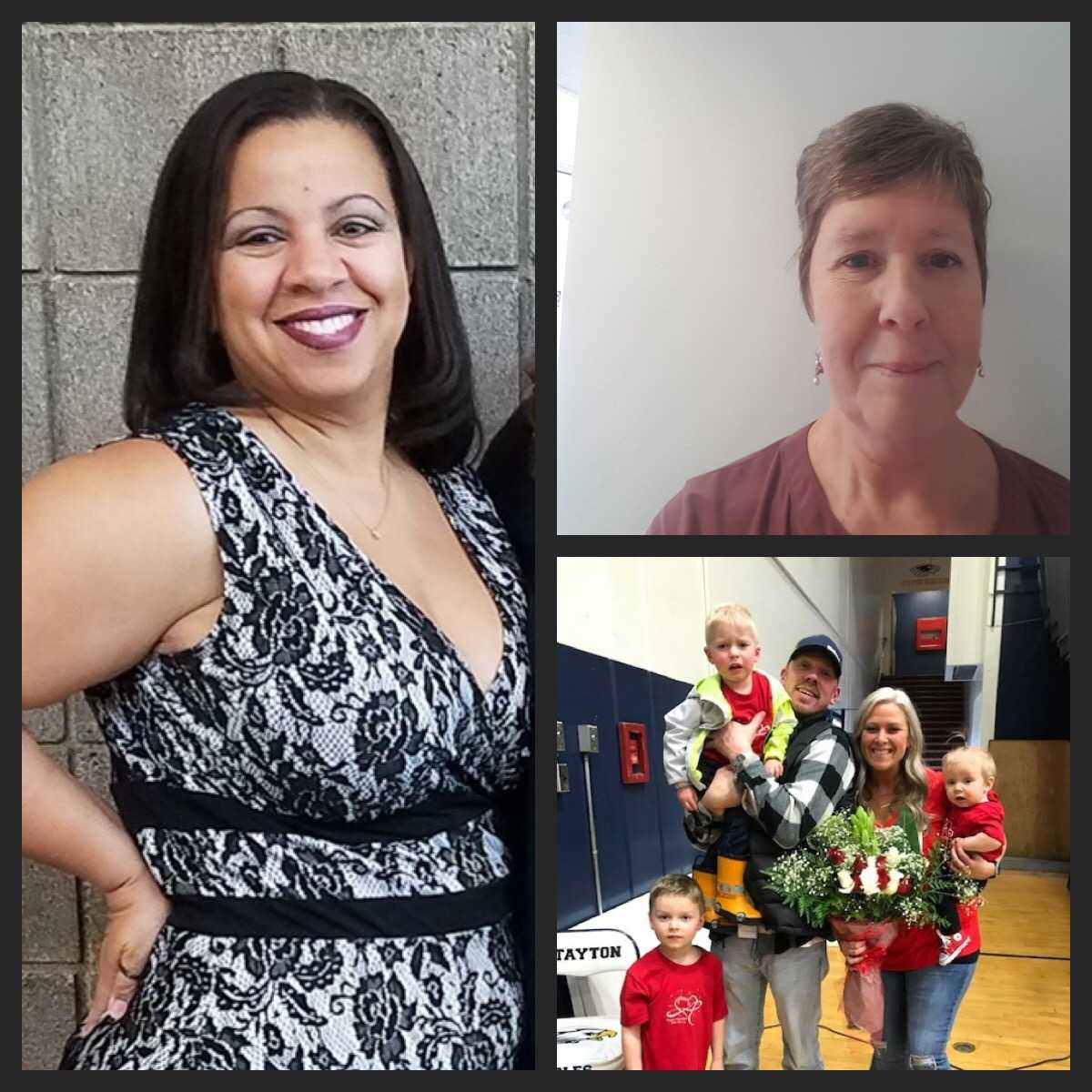 Ally Britton (left), Lynne McEachern (top right), and Alyssa Russell received the inaugural Assistant Coach of the Year honors.