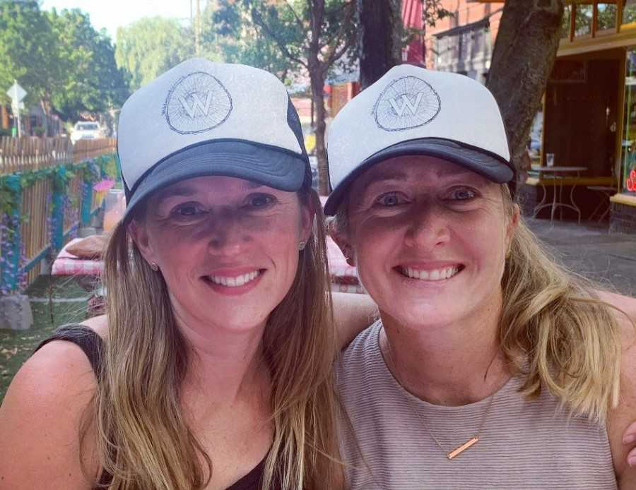 Marie Davis Markham (left) and Robyn McGillis came up with the idea for Wildwood Running last year.
