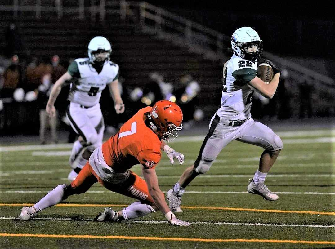 West Salem's Nate Garcia rushed for five touchdowns against Sprague. (Photo by Jon Olson)