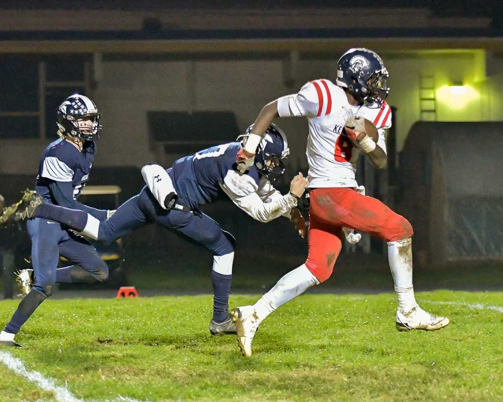 Kennedy's Emorej Lynk has rushed for 368 yards in two playoff games. (Photo by Andre Panse)