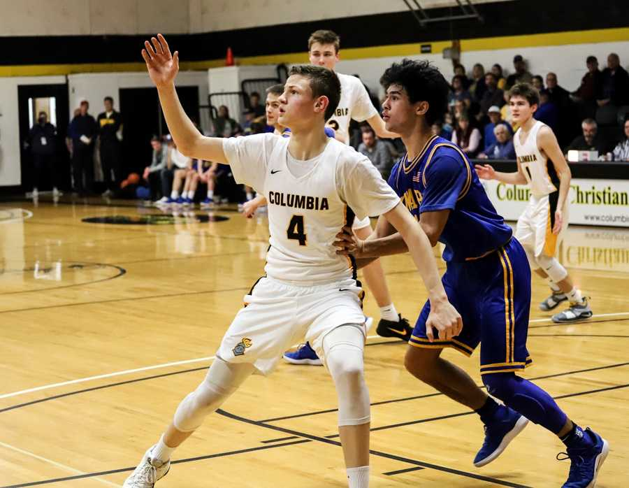 Ben Gregg, who was a unanimous pick for all-tournament last year, is back better than ever for favored Columbia Christian