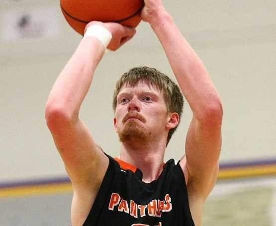 Levi Burke scored a game-high 15 points in Prairie City's win over Sherman. (NW Sports Photography)