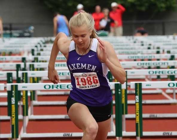 South Eugene's Taylor Chocek won the heptathlon, finishing first in four events. (Kim Spir/DyeStat)