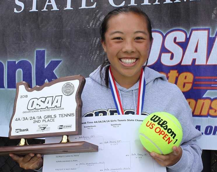 Courtlyn Lam won the 4A/3A/2A/1A singles title last year and helped Klamath Union finish tied for second.