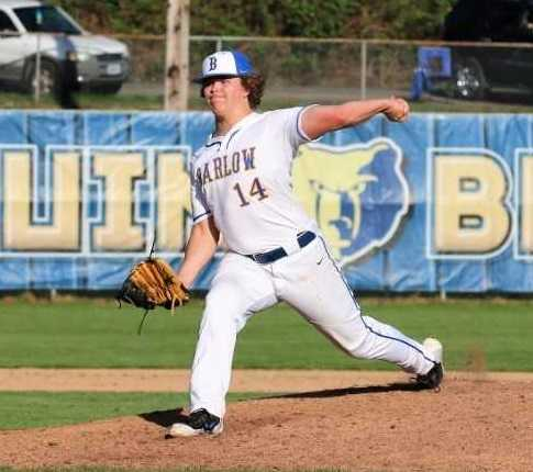 Barlow's Carson Jensen allowed three hits, fanned six and did not walk a batter Thursday. (Photo by Renae Miller)
