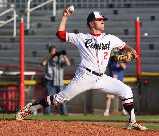 Ruben Cedillo got the win Saturday for Central, which allowed 57 runs in 29 games this season. (Photo by Norm Maves Jr.)