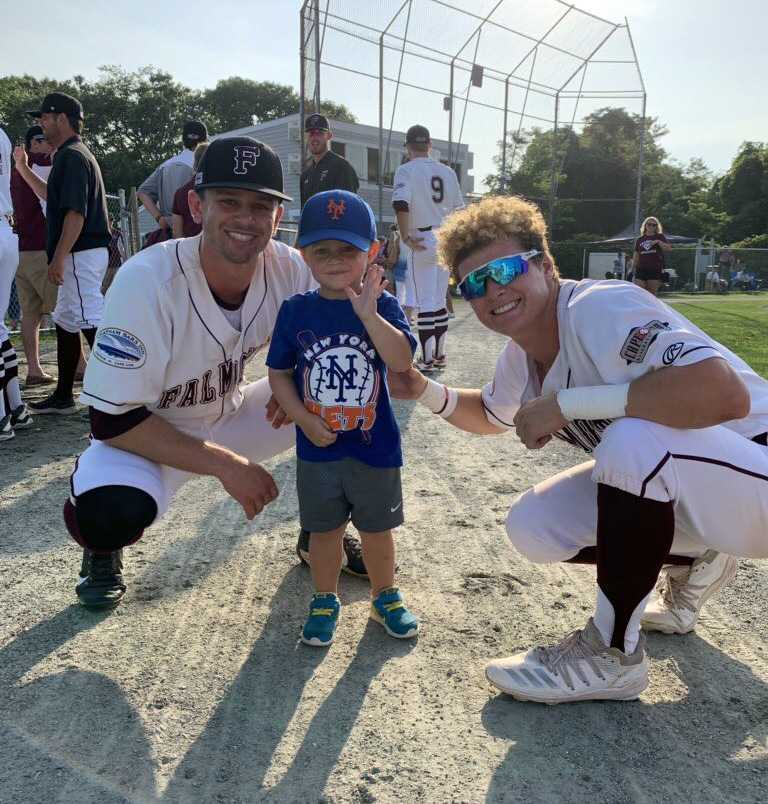 Interacting with young fans at the ballpark helps guys like me and Hayden Cantrelle (right) relax
