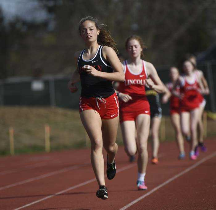 Mia Kane (in front) hopes to be part of a state championship team for Lincoln this fall
