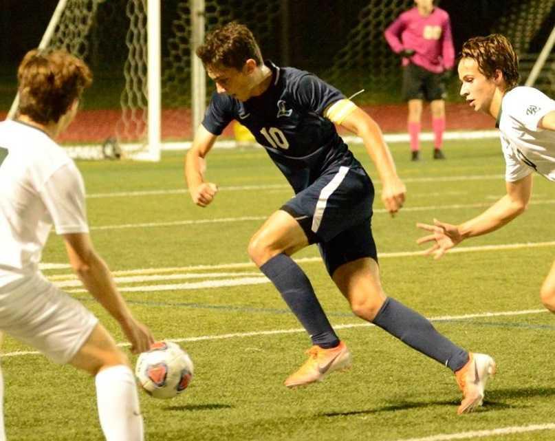 Liberty senior center back Jacob McDaniel has been stellar so far this season. (Photo courtesy Liberty High School)