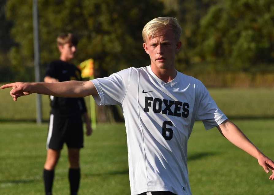 Britton Ullan scored in the 35th and 62nd minute in Monday's 2-1 road win. (Photo by Jeremy McDonald)