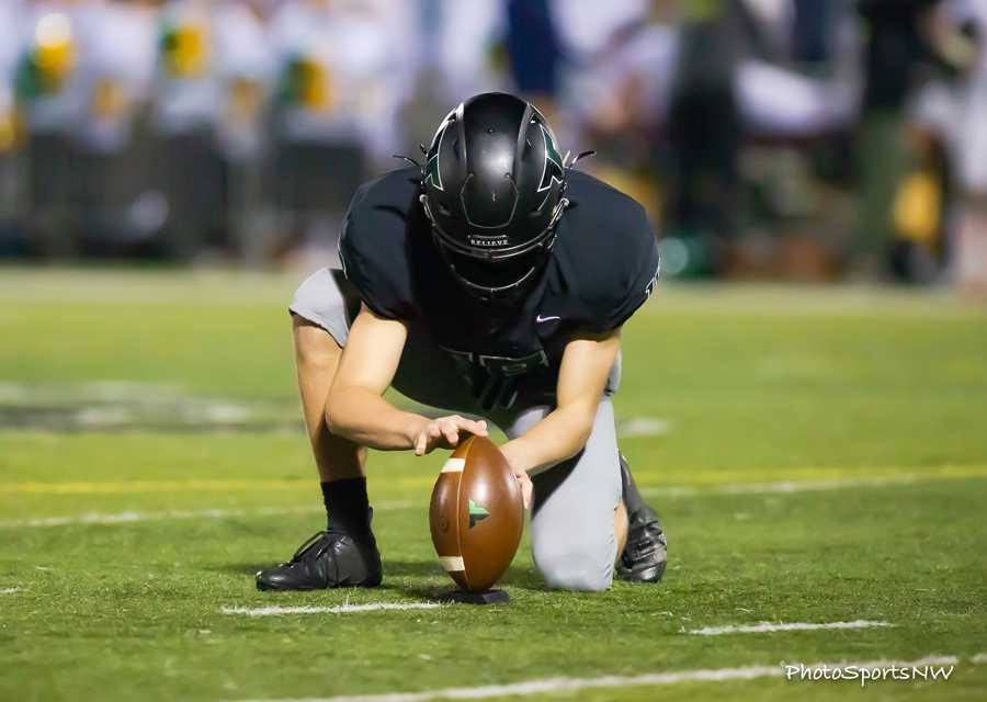 Tigard kicked five PATs in Friday's win over West Linn. Photo by Brad Cantor