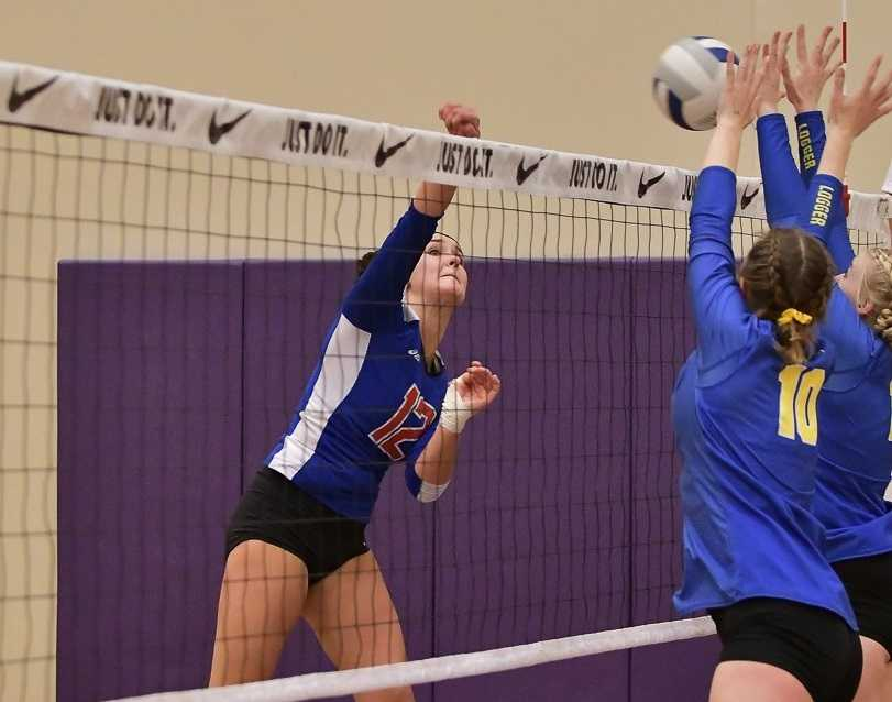 Central Linn's Sydney Northern hits against Vernonia in a 2A semifinal Friday. (Photo by Andre Panse)