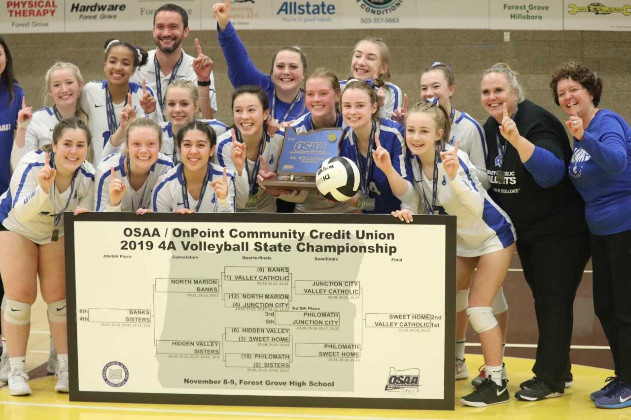 Osaatoday Volleyball Valley Catholic Holds Off Sweet Home In 4a Final