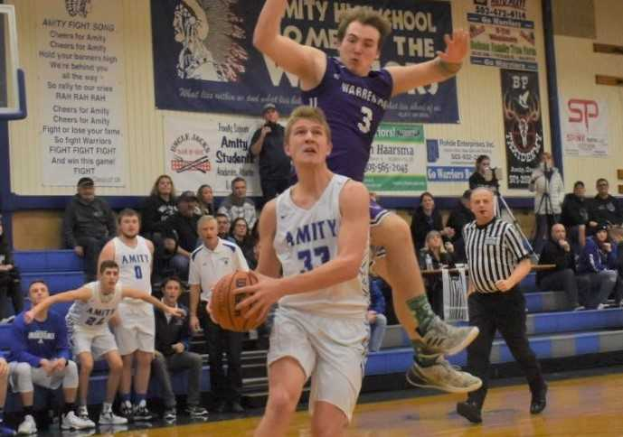 Amity junior Josh Wart is averaging a team-high 18 points per game. (Photo by Jeremy McDonald)