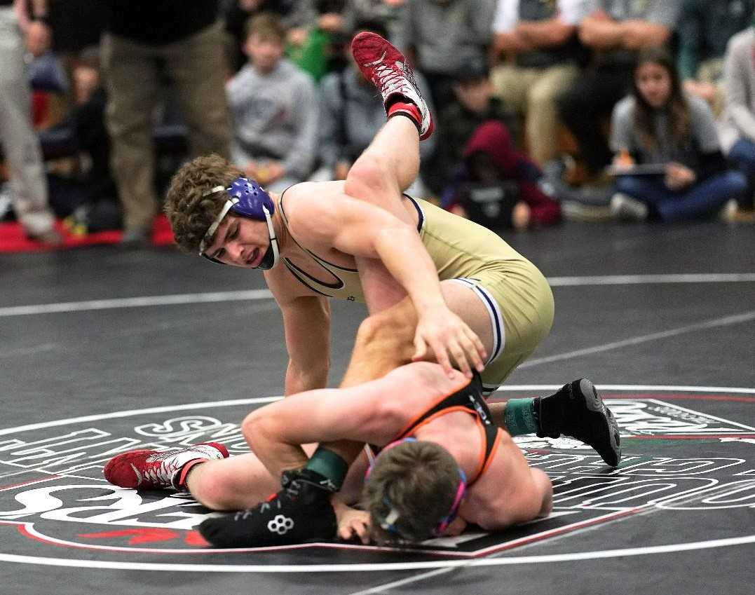 Crook County senior Kyle Knudtson is going for a repeat 5A title at 182 pounds. (Photo by Jon Olson)