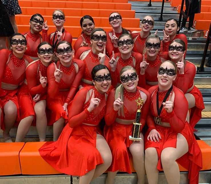 The South Albany RedHawks won at Sprague with their piece 'We Know Your Secret.'