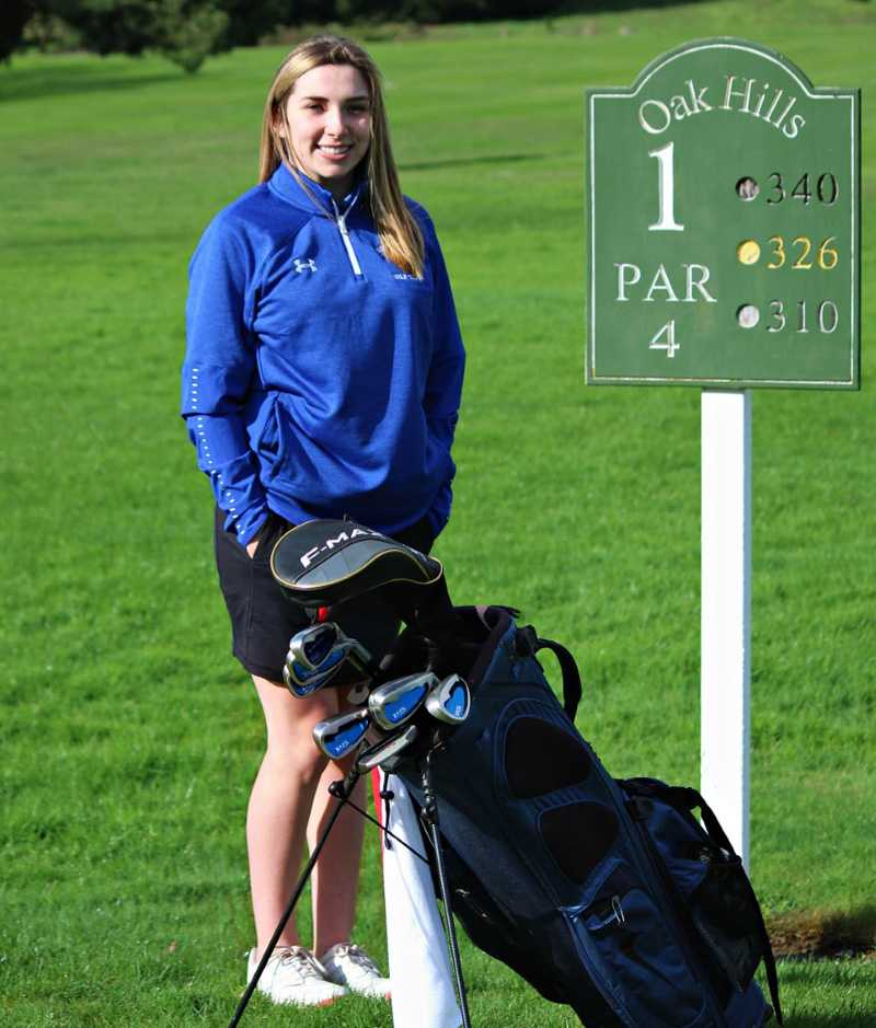 This photo fits Sutherlin golfer Haley Aiken to a tee