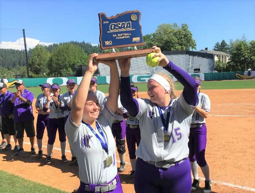 Ridgeview outfielder Sage McVay (left) and pitcher Allicitie Frost (right) were 5A first-team all-state picks in 2019.