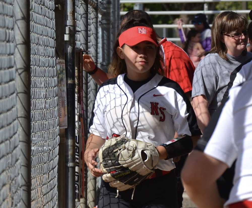 Versatile defensively, Alexis Figueroa has flashed leather at SS, 2B and CF during her North Salem career