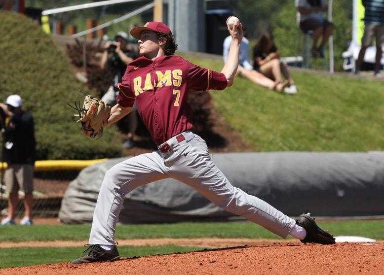 Central Catholic's Dylan MacLean went 10-1 with a 0.51 ERA as a junior. (Photo by Norm Maves Jr.)