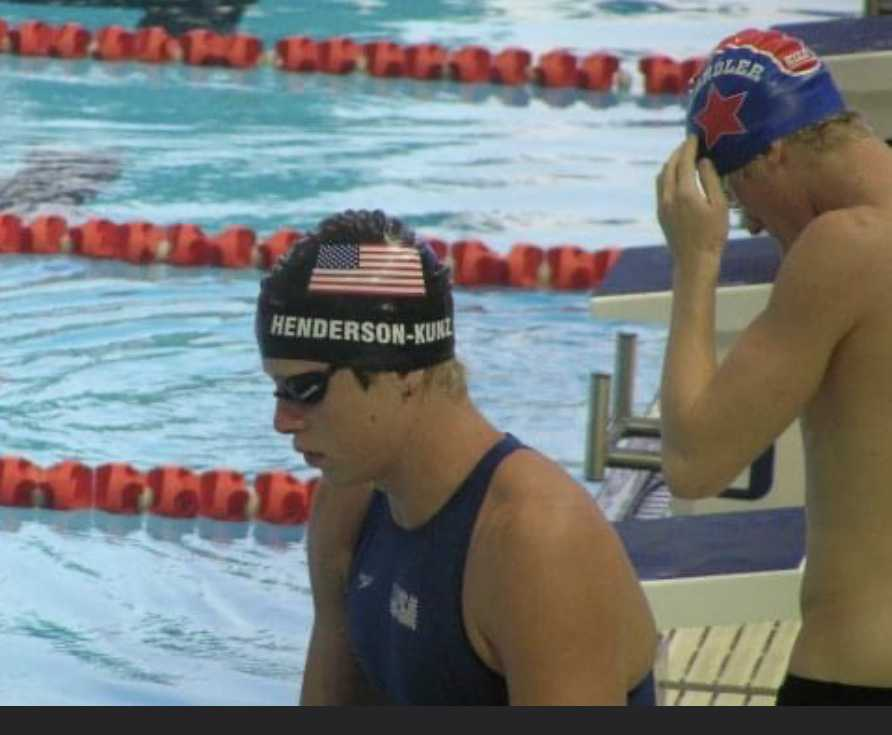 Morgon Henderson-Kunz swam for the USA Junior National Team and at the US Olympic trials after his junior year