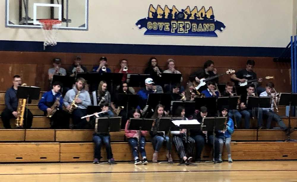 The band at Cove Charter is instrumental to creating pep for the school and surrounding communities
