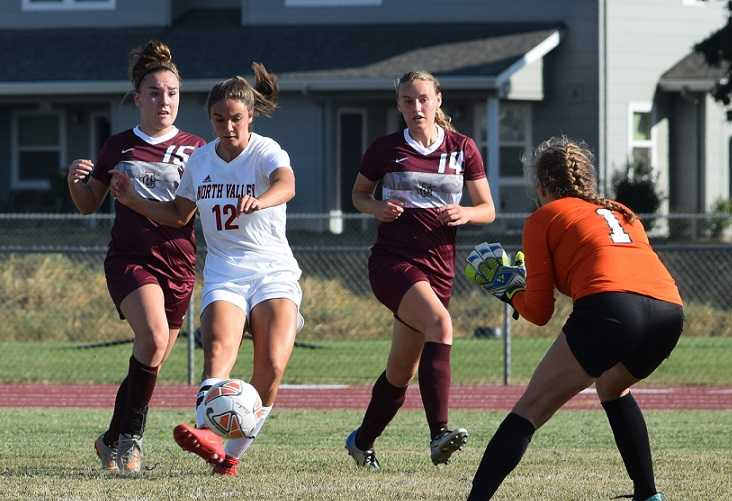 North Valley's Baylee Touey scored six goals in a match against Junction City this season.