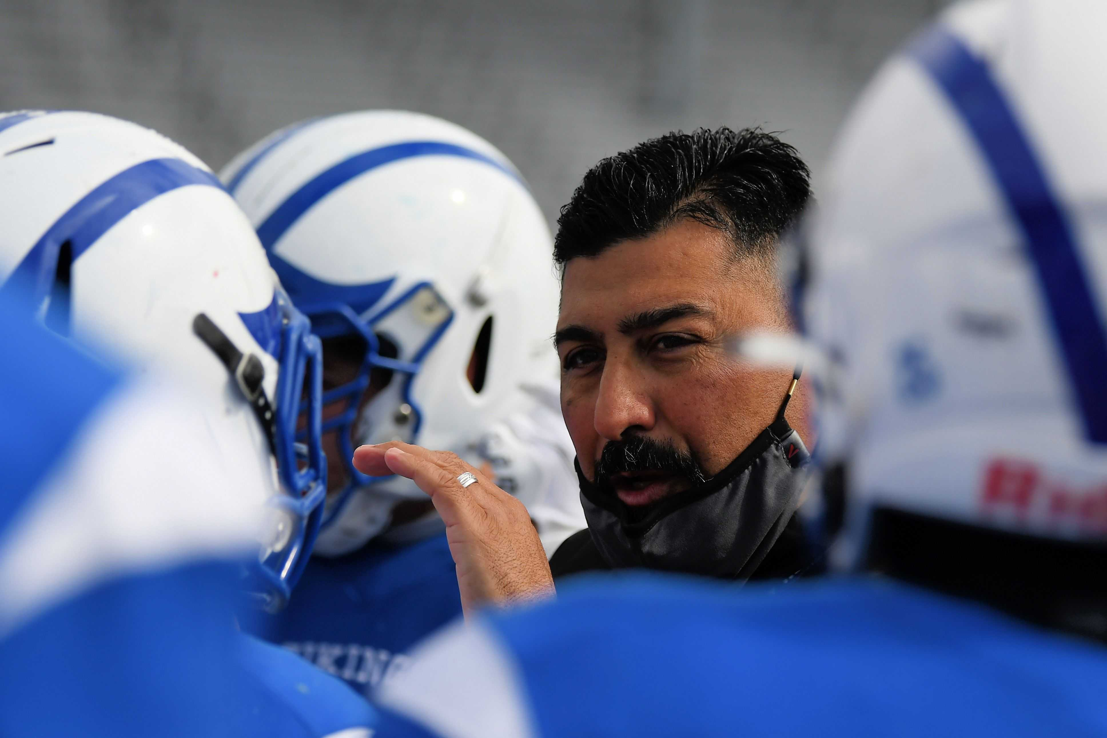 Mazama coach Vic Lease was inundated with messages after taking down 5A champ Thurston. (Leon Neuschwander/SBLive)
