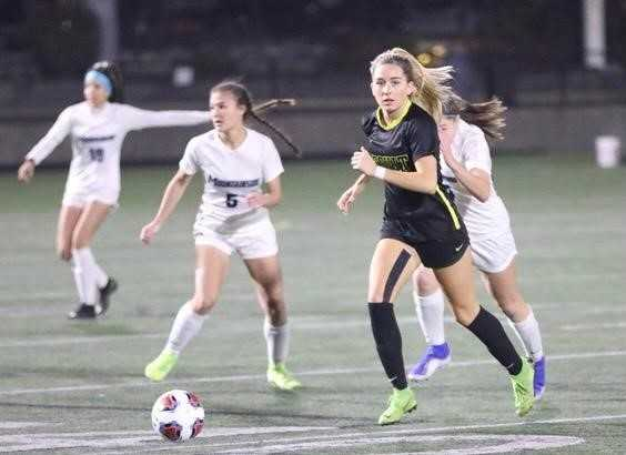 Senior Maddy Koleno, who has signed with Arizona, is a driving force in Jesuit's attack. (Photo by Norm Maves Jr.)
