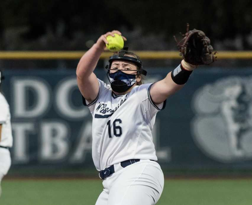 Wilsonville junior Maddie Erickson has struck out 61 batters in 34 innings. (Photo by Greg Artman)