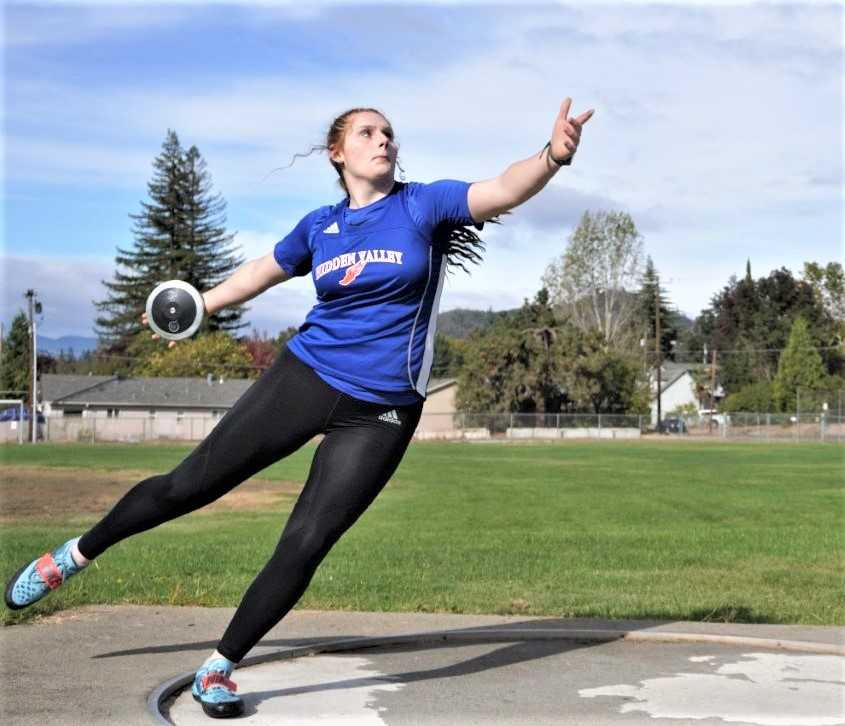 Hidden Valley senior Kaiah Fisher ranks fifth in the nation in the discus.