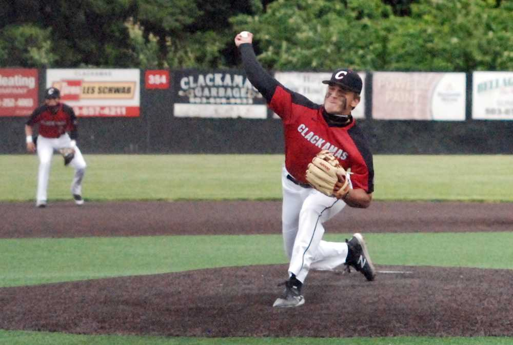 Clackamas junior Jackson Jaha pitched a complete game to lead the Cavaliers past Lakeridge, 2-1