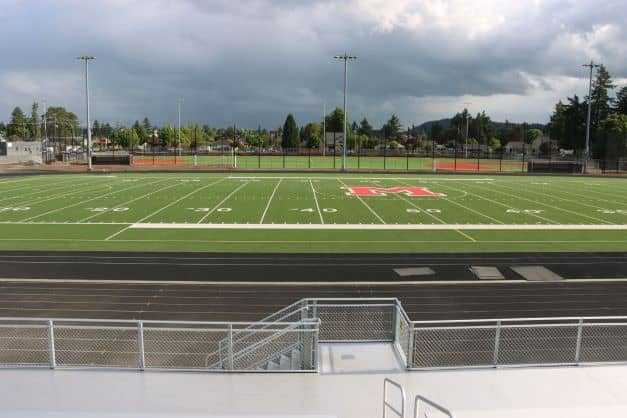 An artificial-turf baseball and softball complex is on the opposite side of McDaniel's stadium. (Portland Public Schools)