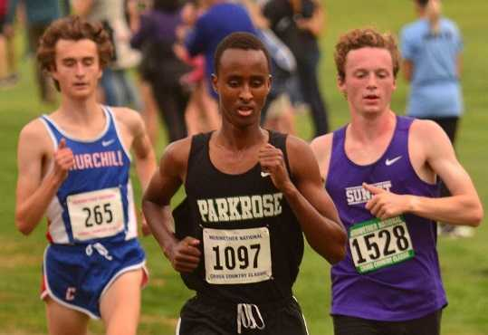 Parkrose's Ahmed Ibrahim has taken 39 seconds off his personal best this season, running 15:21.