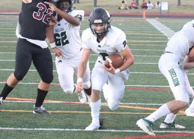 Sheldon's Brock Thomas has accounted for 10 touchdowns in two games. (Photo by Norm Maves Jr.)