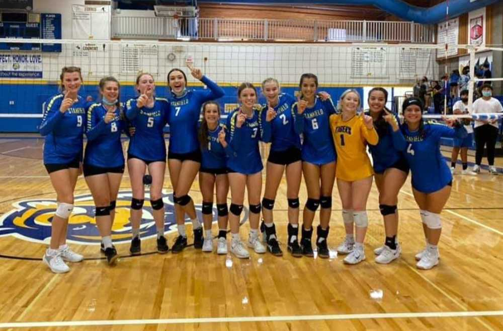 Stanfield volleyball has reason to celebrate after nine wins already this fall, seven more than it had the entire spring!
