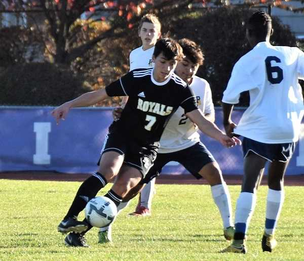Jacob Babalai spent two seasons playing for Columbia Christian before Portland Christian fielded a team.