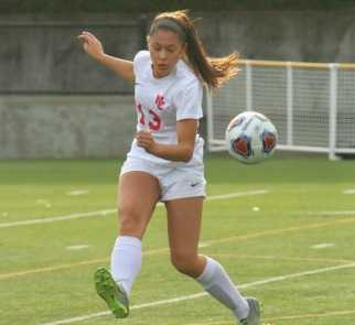 Senior Lauren Martines is part of a defensive line that has yielded a 5A-low eight goals. (NW Sports Photography)
