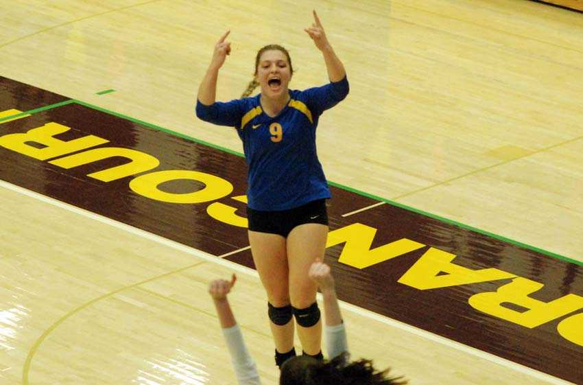 Cottage Grove Cassidy Herbert was a serving fiend in the Lions' five-set quarterfinal win over Tillamook