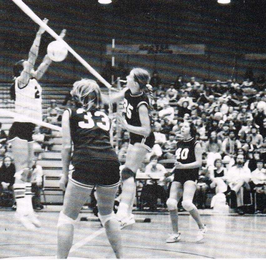 In the 1970s, attacking from the middle of the court was popular and blocks were not imposing