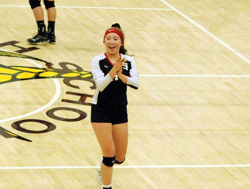 Setter Josie Risinger, one of three returning starters, sparked Santiam Christian to the 3A title on Saturday