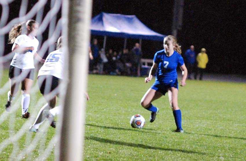 Annika Holliday stares down a good chance for Catlin Gabel in Tuesday's decisive win over Blanchet Catholic