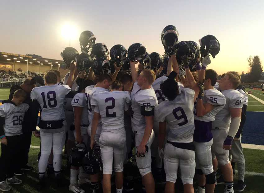 Cascade Christian will defend its 3A title next week after a complete win over Amity, 49-24, on Saturday